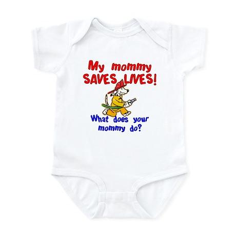 Firefighter Mommy Infant Bodysuit