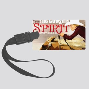 Reining Girl_Poster Large Luggage Tag