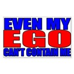 Even My Ego Rectangle Sticker