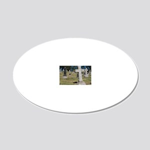 CAL2_Cemetery_046 20x12 Oval Wall Decal
