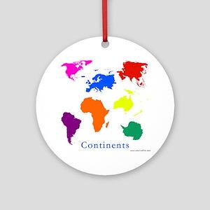 Continents-10x10_apparel Round Ornament