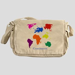 Continents-10x10_apparel Messenger Bag