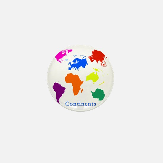 Continents-10x10_apparel Mini Button