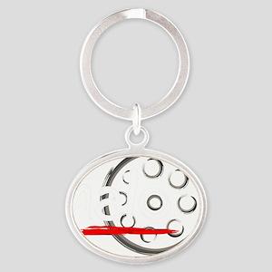 CafePressLogoInverted Oval Keychain