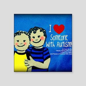 "Autism Mercandise 4 Square Sticker 3"" x 3"""