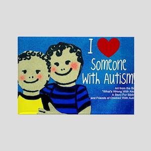 Autism Mercandise 4 Rectangle Magnet