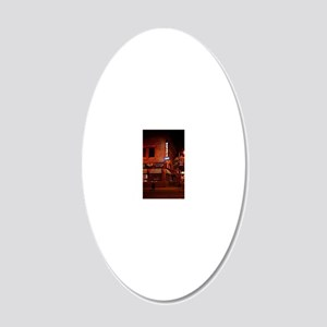 Orange Circle North 20x12 Oval Wall Decal