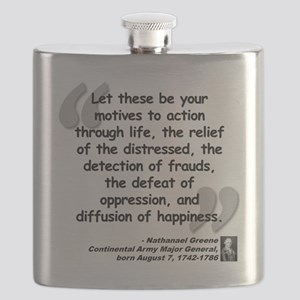 Greene Action Quote Flask