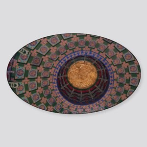 Temple Ceiling-Pix9 Sticker (Oval)