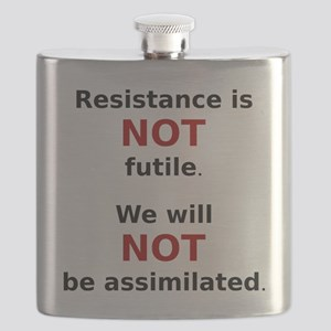 Resistance is not futile. (black) Flask