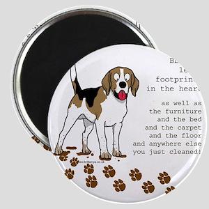 footprints-beagle copy Magnet