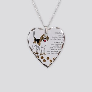 footprints-beagle copy Necklace Heart Charm