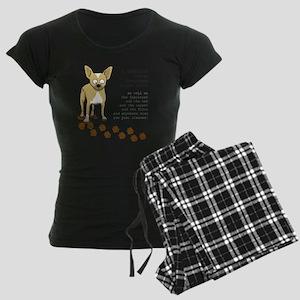 footprints-chihuahua copy.gi Women's Dark Pajamas