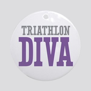 Triathlon DIVA Ornament (Round)
