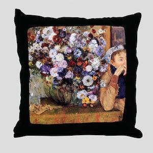 degas and woman Throw Pillow