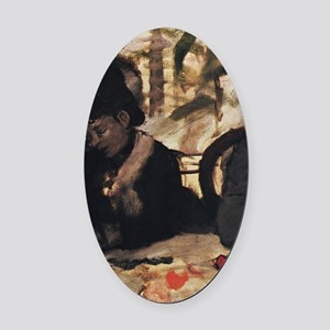 degas at the cafe Oval Car Magnet