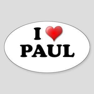 PAUL SHIRT I LOVE PAUL T-SHIR Oval Sticker