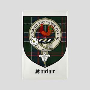 Sinclair Clan Crest Tartan Rectangle Magnet (10 pa