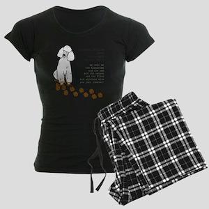 footprints-poodle standard c Women's Dark Pajamas