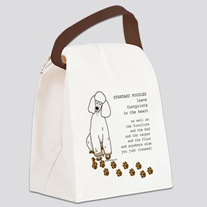 footprints-poodle standard copy.g Canvas Lunch Bag