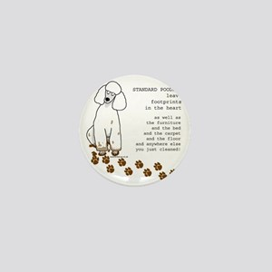 footprints-poodle standard copy Mini Button