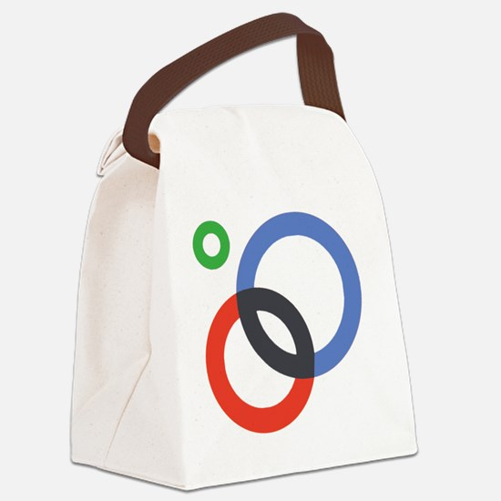Circles Canvas Lunch Bag