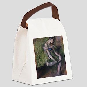 degas ballet green Canvas Lunch Bag