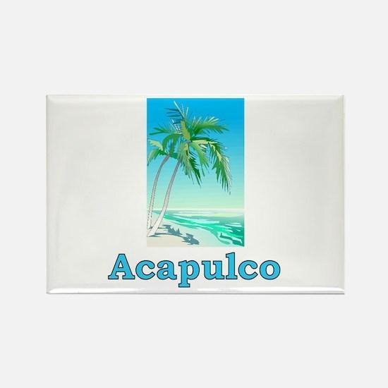 Unique Acapulco Rectangle Magnet