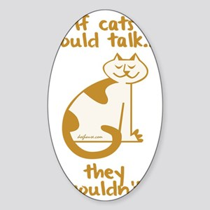 blacktalkingcats Sticker (Oval)