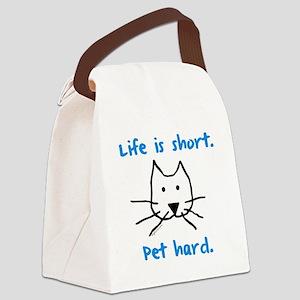 blackshortcat Canvas Lunch Bag