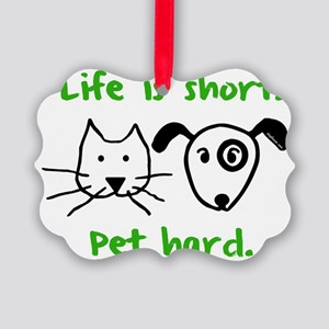 blackcatanddog Picture Ornament