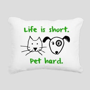 blackcatanddog Rectangular Canvas Pillow