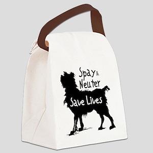 blacksavelivesdog-onlight Canvas Lunch Bag