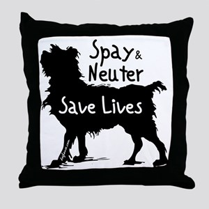 blacksavelivesdog-onlight Throw Pillow