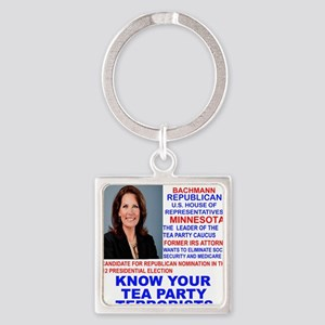 Michele-Bachmann-Tea-Party-small Square Keychain
