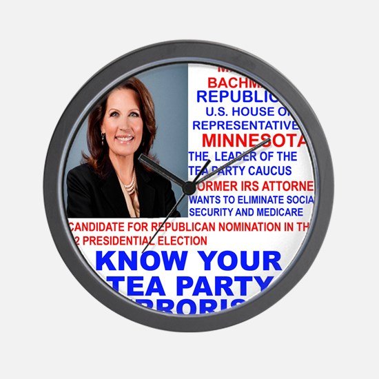 Michele-Bachmann-Tea-Party-small Wall Clock