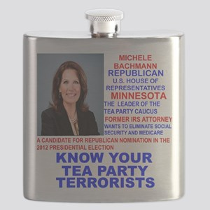 Michele-Bachmann-Tea-Party-small Flask