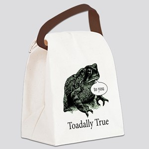 Toadally True Toad Canvas Lunch Bag