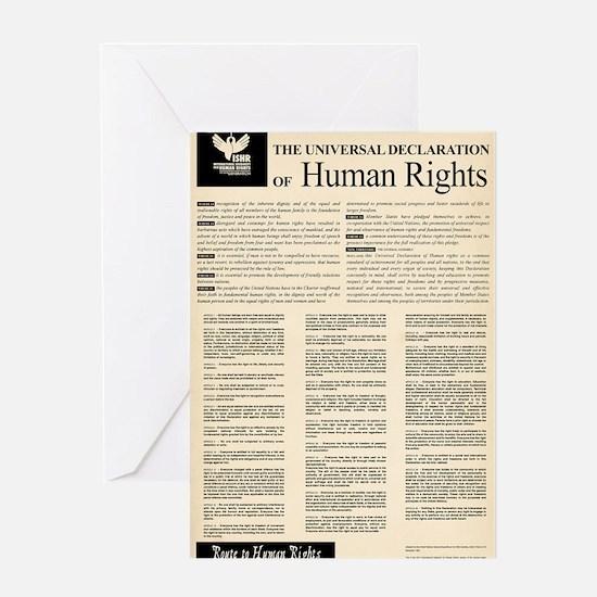 ISHR Human Rights Poster Greeting Card