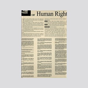 ISHR Human Rights Poster Rectangle Magnet