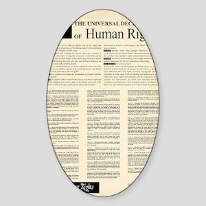 ISHR Human Rights Poster Sticker (Oval)