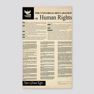 ISHR Human Rights Poster 3'x5' Area Rug