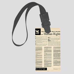 ISHR Human Rights Poster Large Luggage Tag