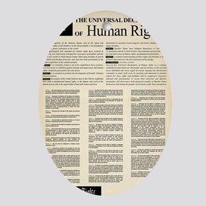 ISHR Human Rights Poster Oval Ornament