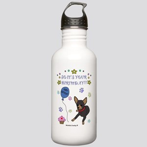 ChihuahuaBlackTan Stainless Water Bottle 1.0L