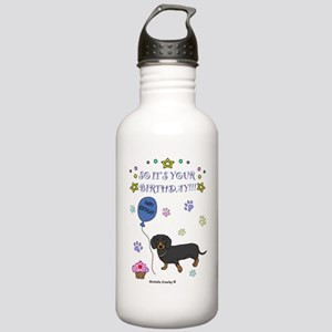 DachshundBlackBrown Stainless Water Bottle 1.0L