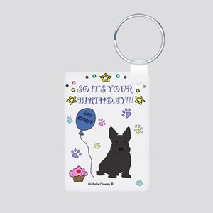 ScottishTerrier Aluminum Photo Keychain