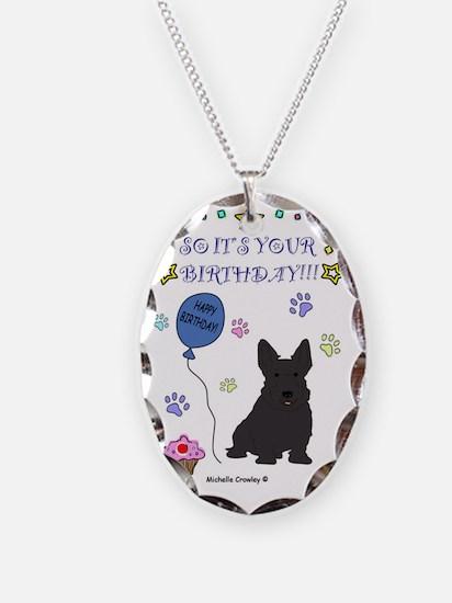 ScottishTerrier Necklace Oval Charm