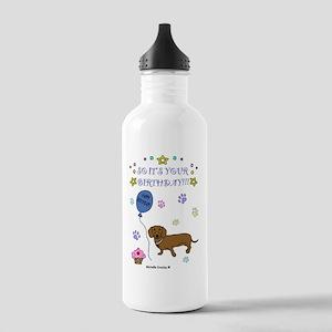 DachshundBrown Stainless Water Bottle 1.0L