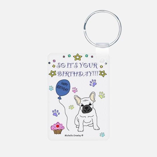 FrenchBulldogWhite Keychains